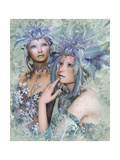 2 Winter Elves Art par Atelier Sommerland