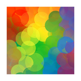 Rainbow Dots Print by  Angela_Waye