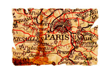 Paris Old Map Posters by  Pontuse