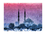 Watercolor Istanbul Prints by  Baloncici