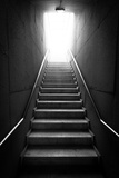 Black And White Stairway Photographic Print by  BigKnell