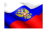 Flag Of Russia Prints by  Yuinai