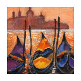 Gondolas In Venice Prints by  balaikin2009