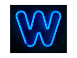 Neon Sign Letter W Prints by  badboo