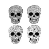 Ornament Skull Set Premium Giclee Print by cherry blossom girl