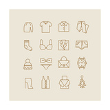 Woman Clothes Icons Posters by  yemelianova