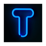 Neon Sign Letter T Prints by  badboo