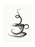 Kaffee Kunstdrucke von  illustrart