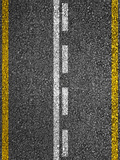 Road Texture With White And Yellow Stripes Photographic Print by  Zibedik