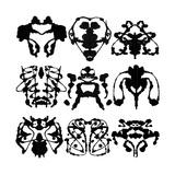 Nine Rorschach Test Kunstdrucke von  akova