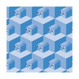 Pattern Cubes Robot Prints by  robodread