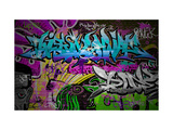SergWSQ - Graffiti Wall Urban Art Plakát