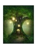 Fantasy Tree House Kunstdrucke von  egal