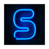 Neon Sign Letter S Print by  badboo