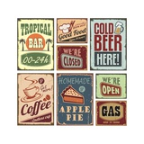 Retro Signs Print by  Lukeruk