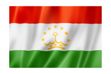 Tajikistan Flag Prints by  daboost