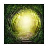 Road In Dark Forest Plakater af  egal
