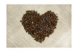 Coffee Beans Heart Posters by  duallogic