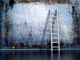 Dirty Grunge Wall With Wooden Ladder Posters by  ArchMan