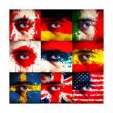 Flag Paint On Face Plakat af igor stevanovic