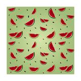 Watermelon Seamless Premium Giclee Print by  AnaMarques