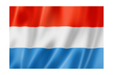 Luxembourg Flag Prints by  daboost