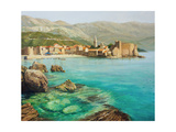 Bay Near Old Budva Print by  kirilstanchev