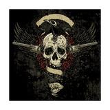 Raven Skull Collage Affiche par  vectorbomb