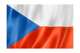 Czech Flag Reproduction giclée Premium par  daboost