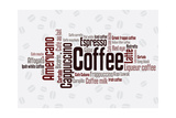Wordcloud Of Coffee Kunstdrucke von  alanuster