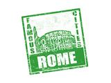 Rome Stamp Posters by  radubalint