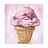 Pink Ice Cream Cone Posters by  LoveliestDreams