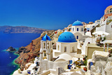 Amazing Santorini - Travel In Greek Islands Series Lámina giclée prémium por  Maugli-l