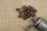 Coffee Beans And Coffee Mill Posters by Hayati Kayhan