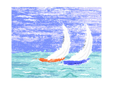 Yachts Art by  Tawng