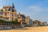 Trouville Sur Mer Beach Promenade, Normandy, France Prints by  Zechal
