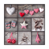 Christmas Collage Premium Giclee Print by  egal