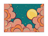 Retro Clouds Poster Posters by  GeraKTV