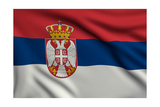 Flag Of Serbia Prints by  metrs