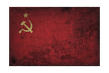 Grunge Ussr Flag Prints by  Spaxia