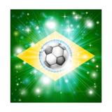 Brazil Soccer Flag Posters av  Krisdog