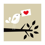 Bird Love Card Posters by  vector-RGB