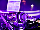 Dj Mixer With Headphones Photographic Print by  maxoidos