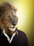 Lion Dressed Up With A Shirt And Jumper Photographic Print by  Nosnibor137