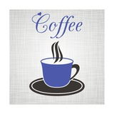 Blue Cup Of Coffee Premium Giclee Print by  blumer