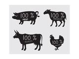 Farm Animals Posters van  Alexkava