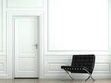 Interior Design Classic Wall With Chair Photo by  arquiplay