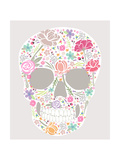 Skull From Flowers Print by cherry blossom girl