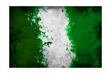 Nigerian Flag Premium Giclée-tryk af igor stevanovic