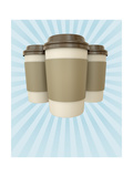 Coffee Cups Poster Art by  bayberry